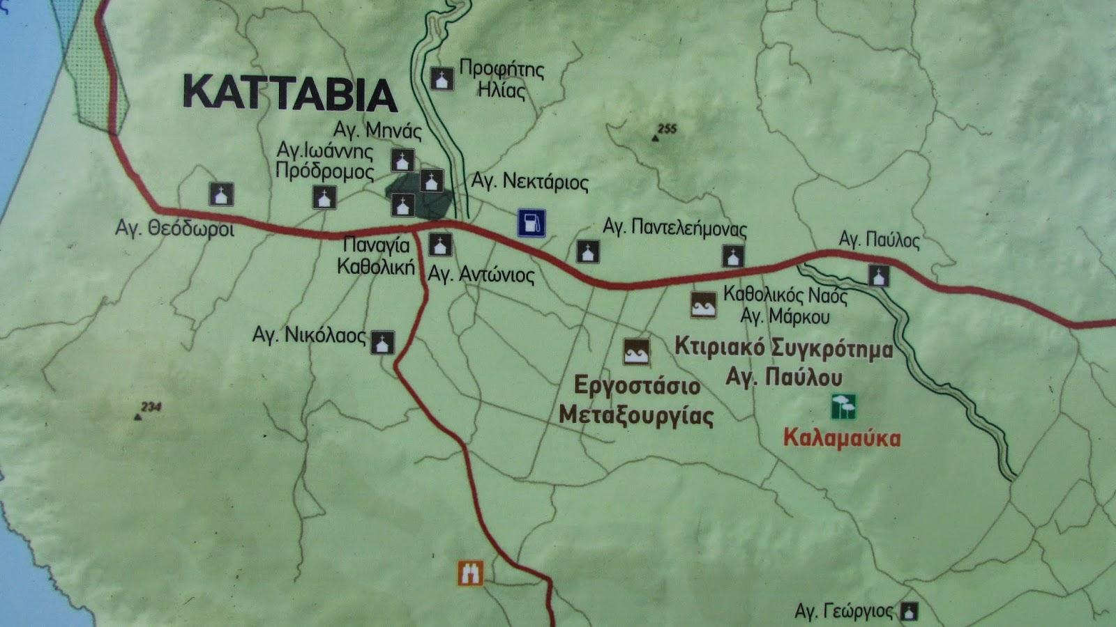 mapa Katavia