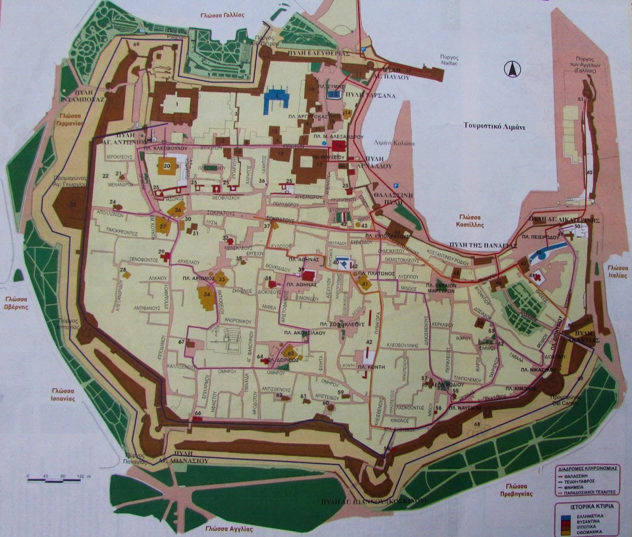 plan średniowiecznego miasta