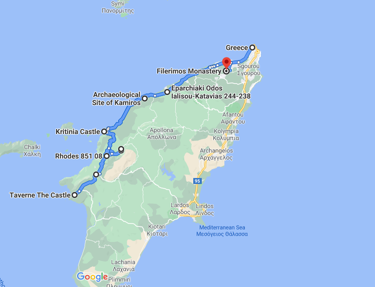 zachodnie wybrzeże - trasa wycieczki
